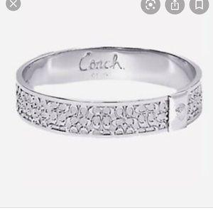 Coach monogram silver bangle bracelet